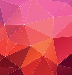 Abstract Triangle Geometrical Red vector