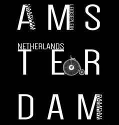 amsterdam typography t shirt design vector image