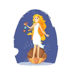 Ancient greek mythological goddess aphrodite vector
