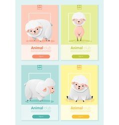 Animal banner with sheep for web design 1 vector