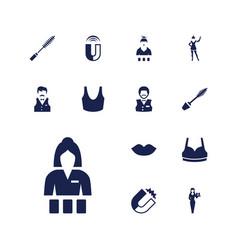 Attractive icons vector