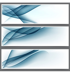 Blue abstract banners vector image