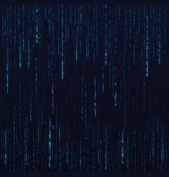 Blue hex random data stream matrix numbers big vector