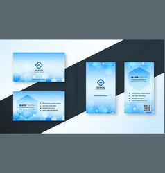 Blue hexagonal medical style business card vector