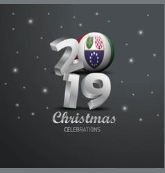 Bosnia and herzegovina flag 2019 merry christmas vector