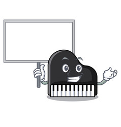 bring board piano character cartoon style vector image