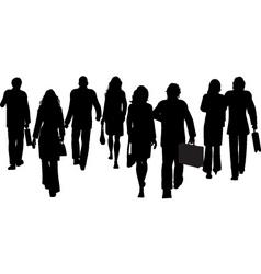 Business people walking away vector
