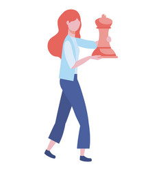 Businesswoman avatar cartoon design vector
