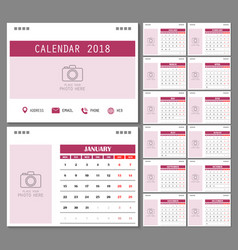 calendar for 2018 year vector image