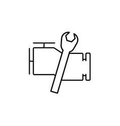 car engine repair icon vector image