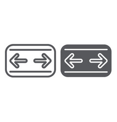 car turn signals line and glyph icon auto and vector image