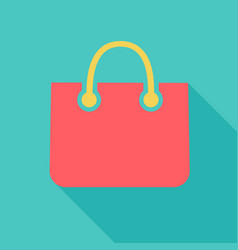 color paper shopping bag icon vector image