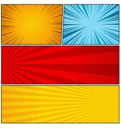 Comic book bright template vector