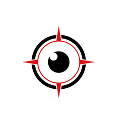 compass eye abstract vision logo icon vector image