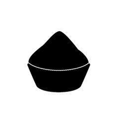 Cupcake black color icon vector