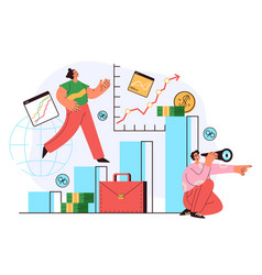 economy business people team characters working vector image