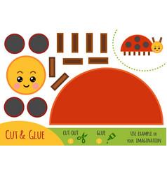 Education paper game for children ladybug vector