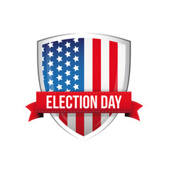 election day united states flag button vector image