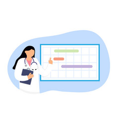female doctor gynecologist near calendar vector image