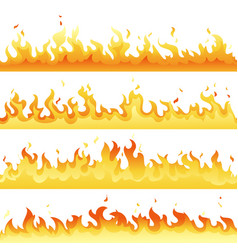 Fire flame backdrop background set horizontal vector