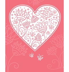 floral heart design vector image
