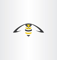 Flying wasp icon vector