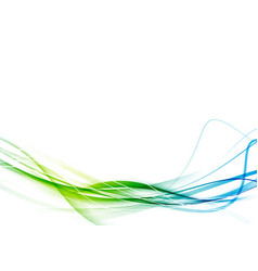 fresh smooth green to blue color gradient vector image