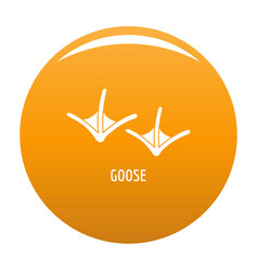 goose step icon orange vector image