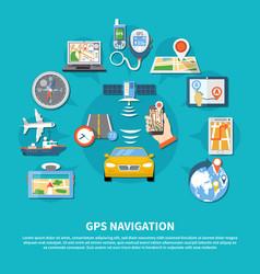 gps navigation system background vector image