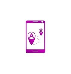 Gps smartphoner icon vector