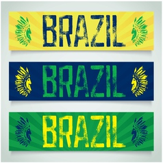 Graffiti banner - Brazil vector