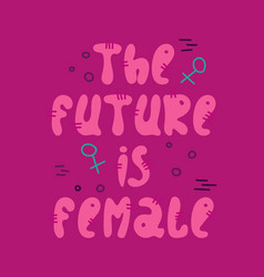 hand-drawn feminist lettering in sloppy style vector image