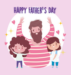 happy fathers day celebrating dad with son and vector image
