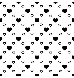 Heart black seamless pattern vector image