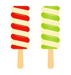 ice cream popsicles isolated on white vector image