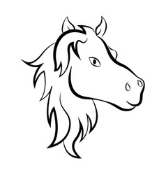 isolated outline of a horse vector image