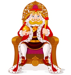 King on the throne vector image
