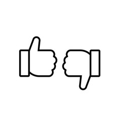 like and dislike symbol vector image