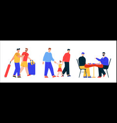 male lgbt couples or family set isolated scenes vector image