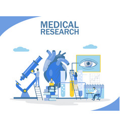 medical research flat style design vector image