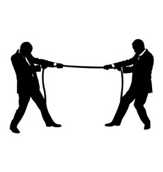 men pulling on rope vector image