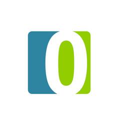 modern logo number 0 vector image