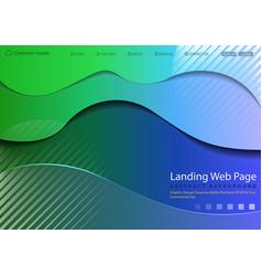 modern website landing page vector image