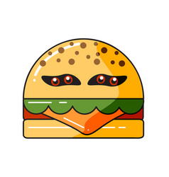 monster burger vector image
