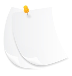 Old white sheets of paper vector