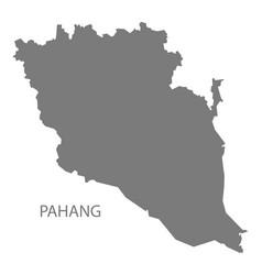 Pahang malaysia map grey vector