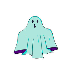 Phantom symbol of halloween ghost character of vector