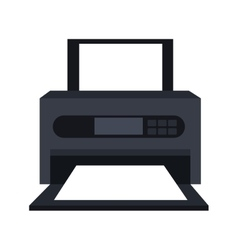 Printer technology device isolated icon vector image