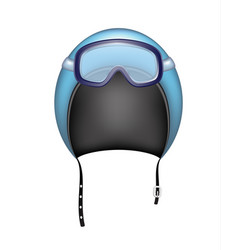 Protective helmet and ski sport goggles vector