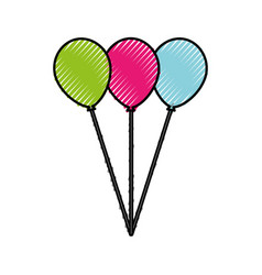Scribble balloons cartoon vector